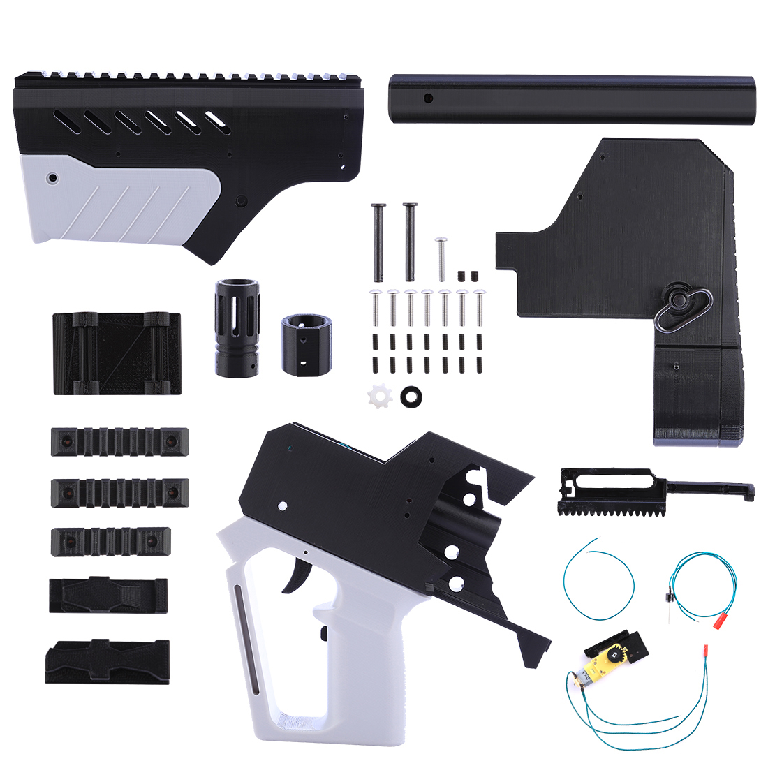 Surwish Appearence Full-automatic MXD-C Short Type Modified Kit for Nerf Stryfe - Grey + Black 30 mxd 3000 30