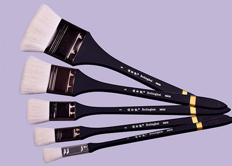 6 pcs esfregando escova de arte suprimentos pintura a oleo escova conjunto de la aquarela