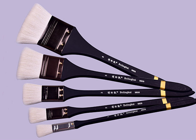 6pcs Scrubbing Brush Art Supplies Oil Painting Brush Set Of Watercolor Wool Painting Art Brush Easy Clean Wooden Cleaning Brush