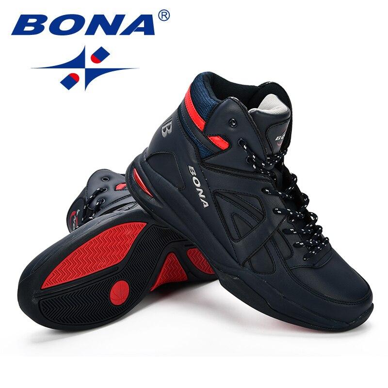 BONA Baskets Homme 2018 hommes basket-ball chaussures vache Split hommes chaussures plein air plat haut chaussures de Sport hommes formateurs Zapatillas Comfy - 6