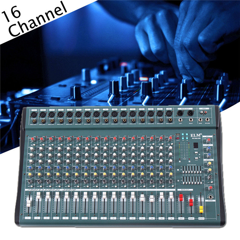 buy 16 channel professional digital microphone sound mixing console powered. Black Bedroom Furniture Sets. Home Design Ideas
