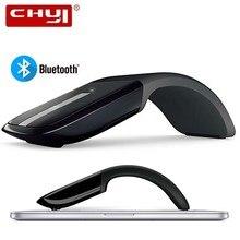 Bluetooth Senza Fili Del Mouse Del Computer Touch Arc Ergonomico Ottico 3D Mause 1200DPI Pieghevole Mini BT Mouse Per il iPhone Microsoft Surface