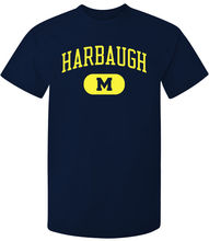 New University of Michigan Logo Mens White Black T-Shirt Size S-3XL Top Tee for Sale Natural Cotton T Shirts Plus  Fre