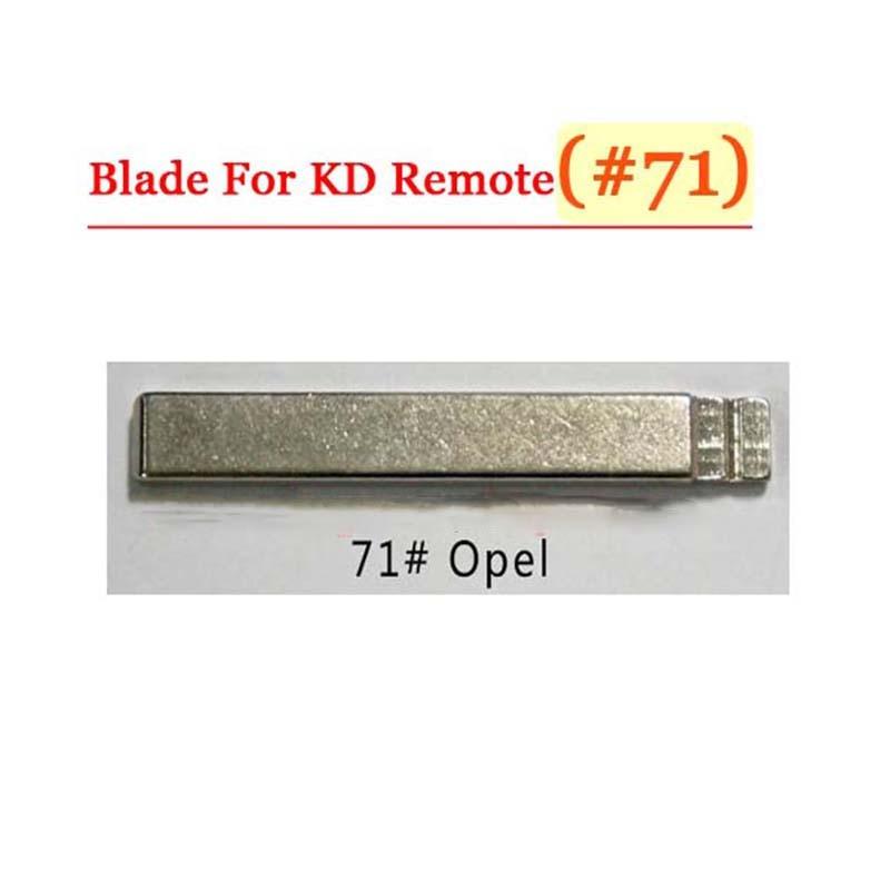Free shipping (10 pcs/lot)Metal Blank Uncut Flip KD Remote Key Blade Type #71 for Opel free shipping 10 pcs lot metal blank uncut flip kd remote key blade type 50 for hyundai tucson