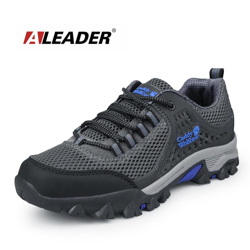 Aleader New Mens Sapatos Casuais Primavera Sapatos de Couro Antiderrapante Sapatos Ao Ar Livre Dos Homens Pista de Caminhada Viagem Sapatos Tenis Masculino zapatos hombre