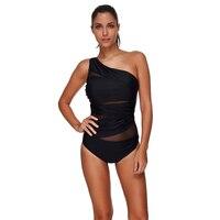 Ls1383 ein stück schwarz maios doppel push up large size bademode feste reversible bogen bikini bottom indoor badeanzug seafolly