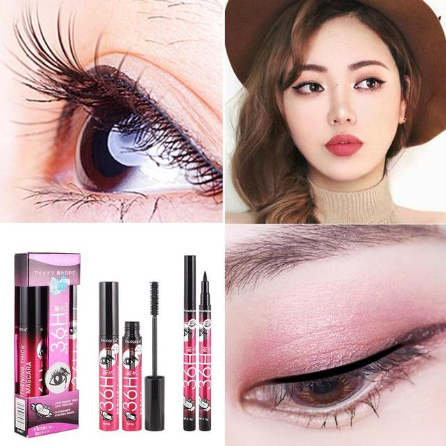 4D Silk Fiber Eyelash Lengthening Mascara Thick Makeup Waterproof Volume Lengthening Black Eye Lashes Extension Mascara Kit 1