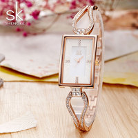 SK Fashion Wristwatch Top Brand Luxury Women Watches Stainless Bracelet Quartz Watch Female Clock Montre Femme
