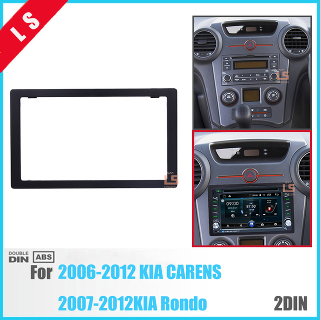 173 98mm Double Din Car Radio Fascia For 2006 2012 Kia Carens Rondo