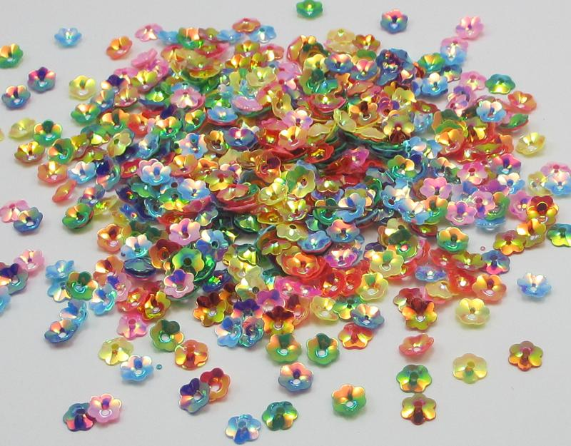 Multi option 20g/lot Mixed color flake Rainbow Cup Sequin confetti 24010012