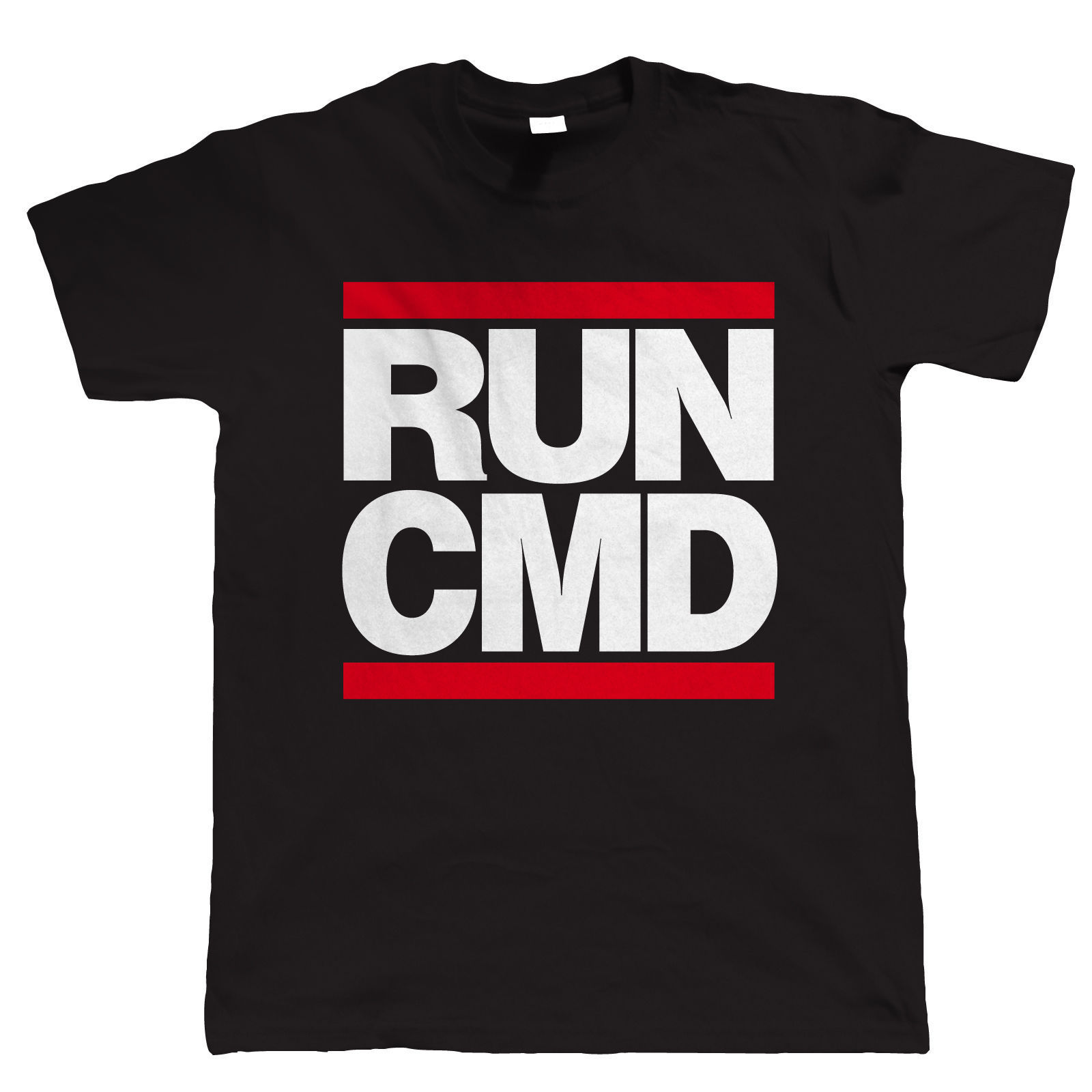 RUNER CMD Web Developer PC Gamer Geek T Shirt New Short Sleeve Round Collar Mens T-Shirt ...