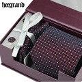 HEE GRAN Alta Calidad Lazos Para Los Hombres de Moda de La Boda Corbata A Rayas Set Casual Hombre Corbatas PLD050