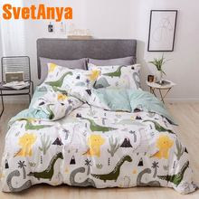 Svetanya Dinosaur Print Bedding Sets Kids Adults Bed Linen (flat sheet pillowcase Duvet Cover) 100 Cotton