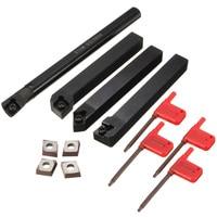 4pcs 12 15mm Shank Boring Bar 95 50 Degree Lathe Index Turning Tool Holder 4pcs CCMT