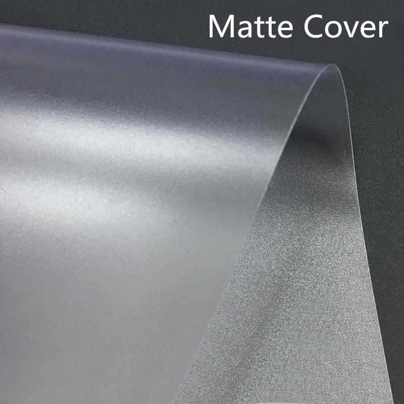 2pcs A4 Transparent Matte Binding Cover PP Plastic Binding Film Document Data Cover Contract Bidding Matte Sheet Office Supplies