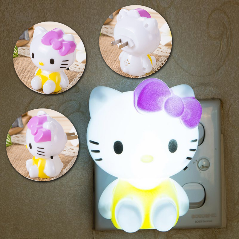 Mainifire Cartoon Night Lamp  Hello Kitty LED Night Light AC220V With US Plug Gifts For Kid/Baby/Children Bedroom Bedside Lamp