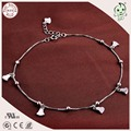 Popular Casual And Sport Style 925 Genuine Silver Love Heart  Pendant Charm Foot Anklet Chain For Women