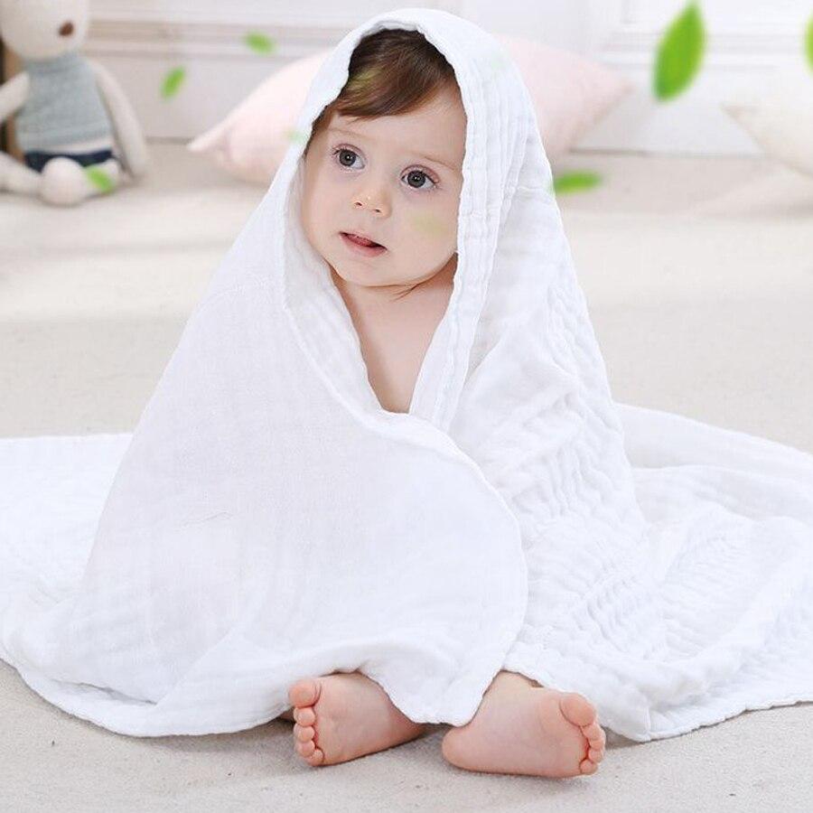 110 см 6 слой 5 ?вет Нрганических обернуть новорожденного пелЄнки из муслина толще 2 года старый банное полотенце спальный мешок дешевые детские