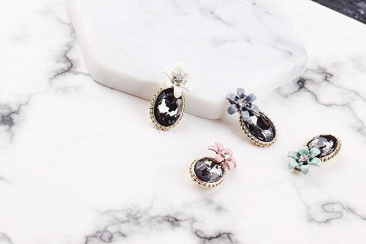 DIY handmade jewelry accessories alloy diamond diamond bracelet necklace pendant pendant earrings earrings flowers in Jewelry Findings Components from Jewelry Accessories