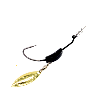 Image 5 - 3 pçs/lote 2g 4g 7g willow weighted swimbait gancho com twist lock spin superline primavera ganchos de pesca