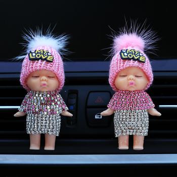 Wzór Outlet okulary przeciwsłoneczne odświeżacz powietrza pojazd samochodowy akcesoria zapachowe trwałe perfumy klip Ornament zapach zapachowy tanie i dobre opinie medodear BABYLOVE 6 6cm Lemon Sztuczny Kryształ Stałe 0 02kg