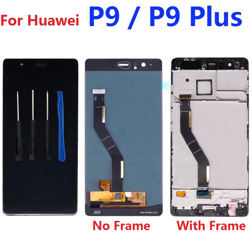 For Huawei P9 / P9 Plus LCD Display Touch Screen Digitizer Sensor with Frame 1920x1080 VIE-L09 VIE-L29For Huawei P9 / P9 Plus LCD Display Touch Screen Digitizer Sensor with Frame 1920x1080 VIE-L09 VIE-L29