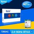Fenvi Dual Band Wireless Bluetooth Wi-Fi Wlan Для Intel Wireless-AC 7260 7260NGW NGFF (M.2) 2x2 802.11ac 867 Мбит WiFi + BT 4.0