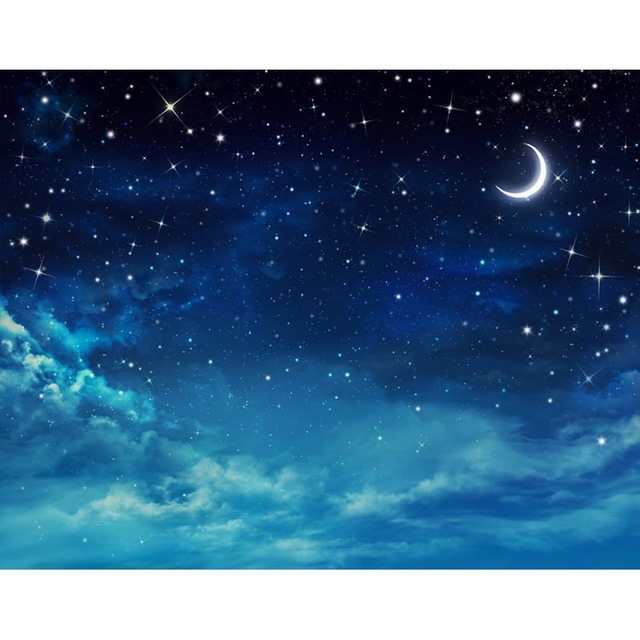 Beautiful night sky stars backgrounds baby shower decoration photography backdrops for kids - Images night sky and stars ...