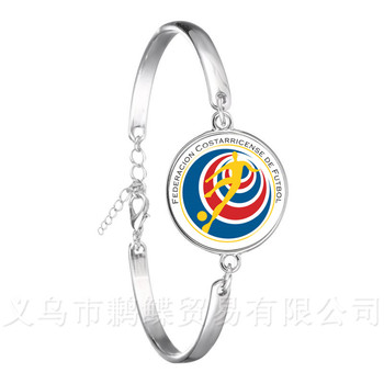 2018 Football Fans Bracelet Poland/Iceland/Costa Rica/Korea/Columbia/France/Russia National Football Badge Bangle Fans Gift image