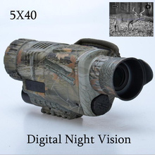 Hunting Infrared digital Night vision monocular scope 5×40 for 200 Meter,zoom 5X , IR, 5MP digital camera video in CCD