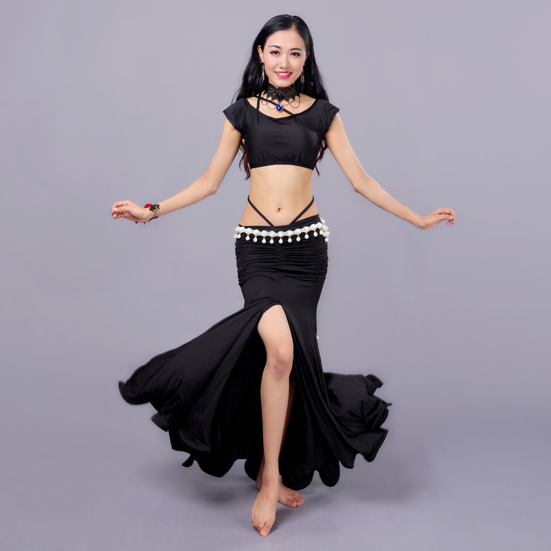 Sexy Eastern Oriental Belly Dance Costume Crop Tops Shirt Skirt for Women Belly Dancing Clothes Bellydance Clothing Indian Wear