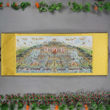 China Antique collection Boutique Calligraphy and painting The Thousand Buddhas diagram