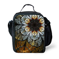 FORUDESIGNS Vintage Flower Rose Thermal Tourism Lunchbag for Women Travel Pinic Food Box Thermo Lunchbox Fashion Lady Cooler Bag