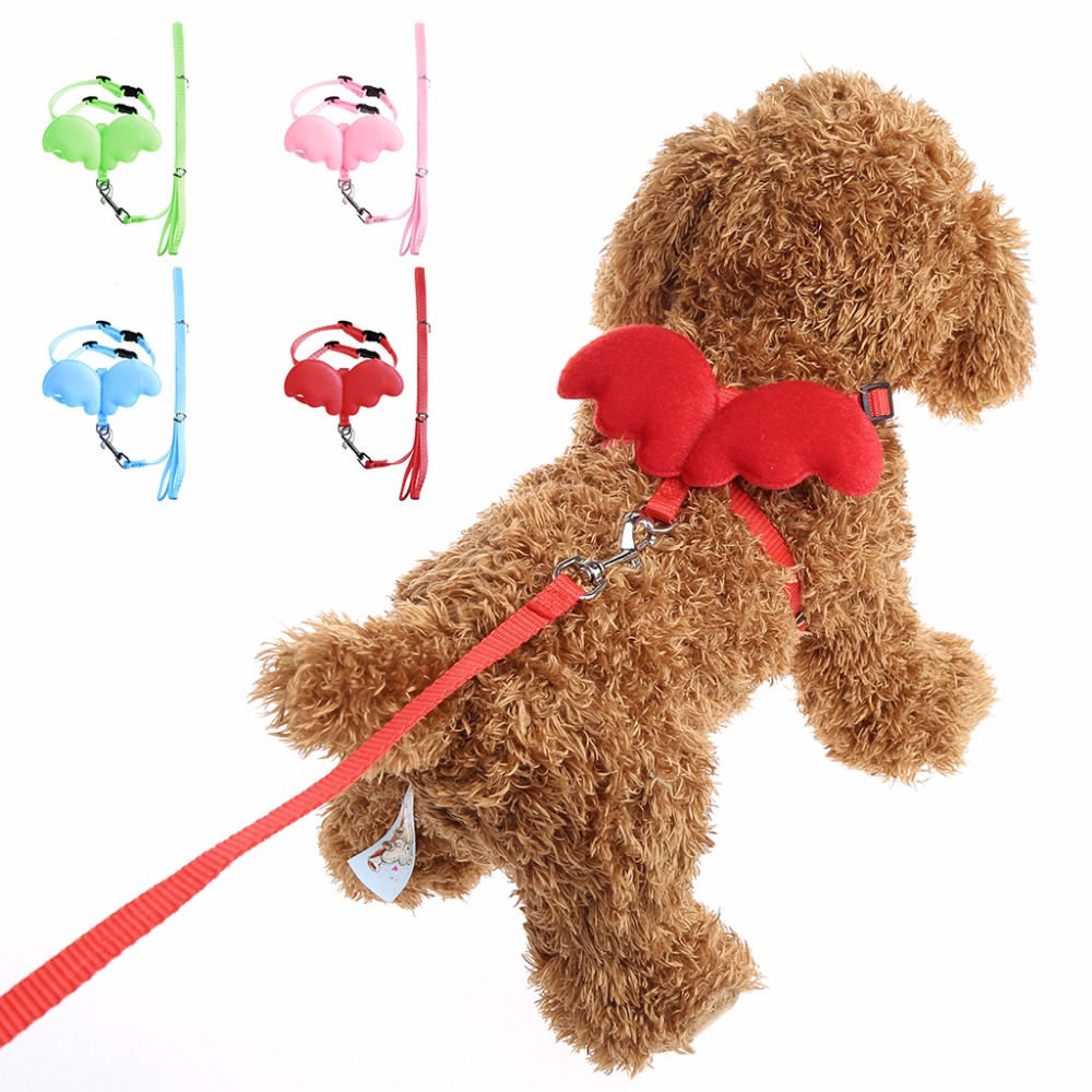 Adjustable Pet Angle Wing Rabbit Ferret Pig Harness Leash Lead Strap Nylon Cute For Dog Cat Small Pet