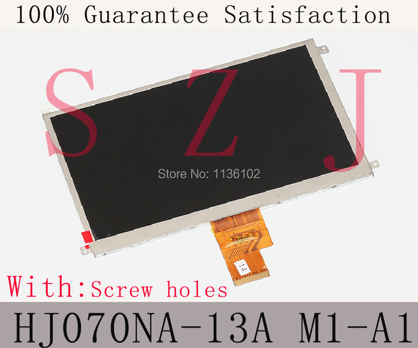 (Ref:HJ070NA-13A M1-A1 32001358-10) Original 7 inch LCD display Tablet PC TFT LCD screen with Screw holes Free shipping