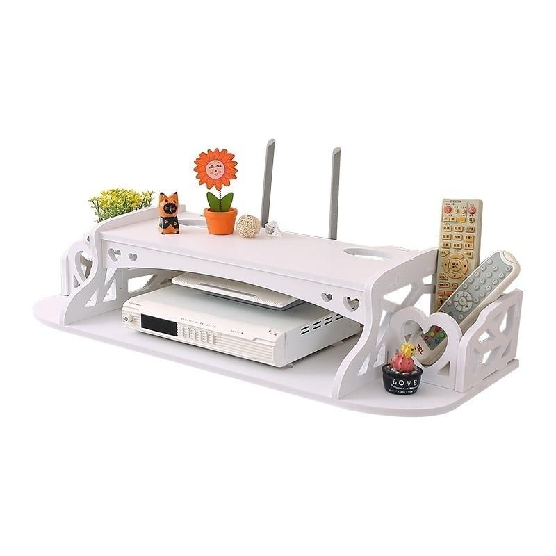 Decoración router inalámbrico Sala blindaje creativo gabinete TV percha cubierta socket estante pilas