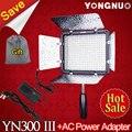 YONGNUO YN-300 YN300 III III 5500 K CRI95 LED Luz de Vídeo painel com adaptador de energia ac para sony canon nikon câmera Camcorder