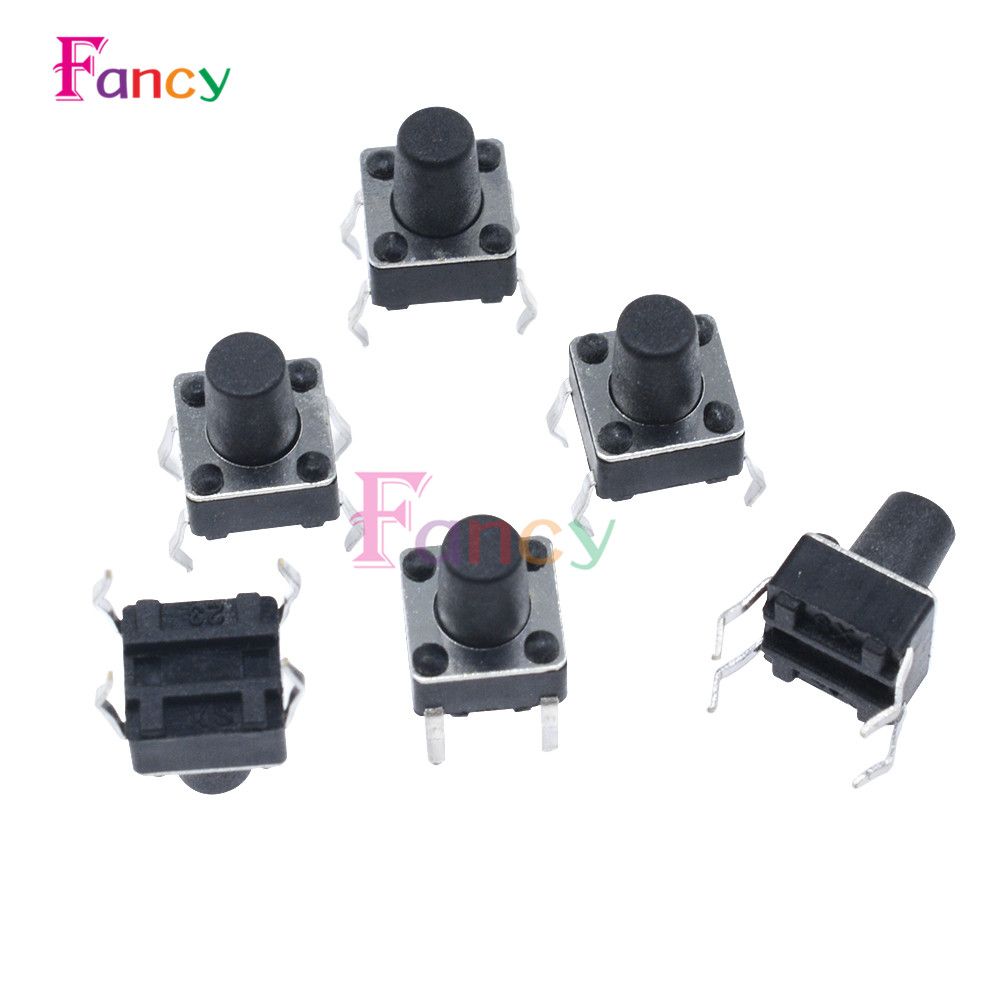 20Pcs Tactile Push Button Switch Tact Switch 6X6X8mm 4-pin DIP 50pcs 6x6x4 3mm tactile push button switch 4 pins micro switch 4 pin dip momentary touch switch