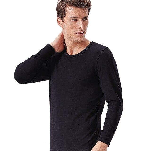 Men pyjamas round collar lycra cotton homewear render warm nightwear long Johns underwear suits