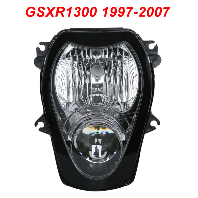 For 97-07 Suzuki GSXR1300 Hayabusa GSXR 1300 Motorcycle Upper Front Headlight Assembly Lamp Headlamp CLEAR 1997 1998 1999-2007 for suzuki hayabusa gsx1300r 1996 2007 injection molded abs plastic motorcycle fairing kit gsxr1300 99 07 gsxr 1300 c46