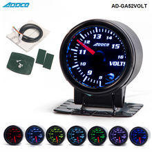 """"""" /52 мм 7 цветов светодиодный вольтметр для автомобиля, вольтметр, измеритель дымовой линзы, указатель, универсальный автомобильный измеритель, AD-GA52VOLT"""