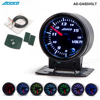 2 52mm 7 Color LED Car Voltmeter Volt Gauge Meter Smoke Lens Pointer Universal Car Meter