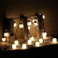 6 M with tail plug 20 LED milky white ball high hardness bulb modeling indoor festive decorative light string EU Plug