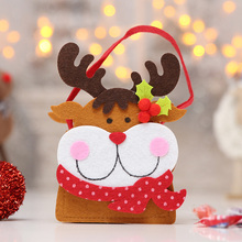 Santa Claus Snowman Elk Christmas Candy Bag Xmas Tree Hanging Ornament Decor