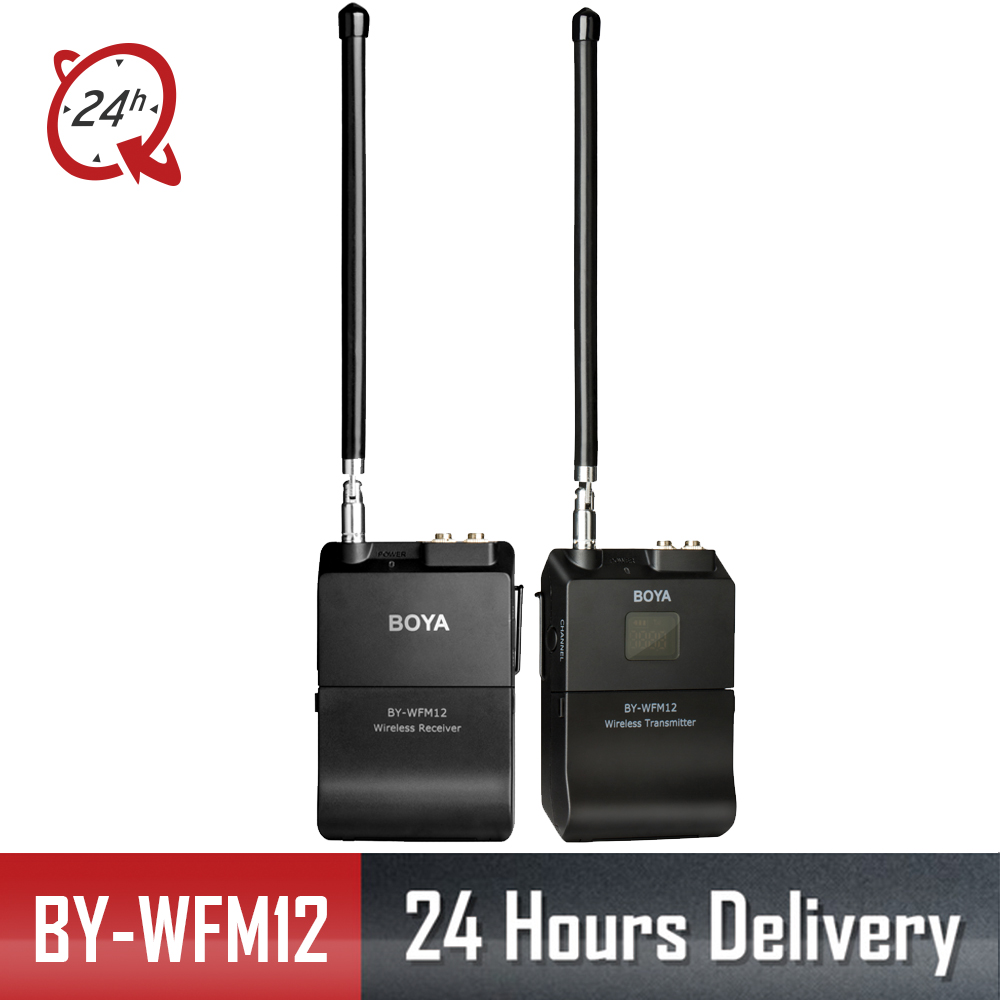 BOYA Wireless Microphone WFM12 VHF MIC condenser microfono condensador Wireless Matched for PC phone Camera Video