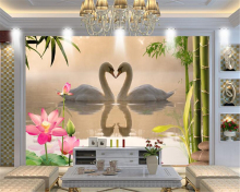 Beibehang 3d wallpaper living room bedroom mural dream swan TV background wallpaper home decoration mural wallpaper for walls 3d цена