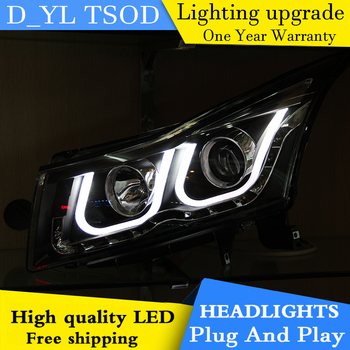 Car styling for Chevrolet Cruze LED Headlights 2009-2014 Headlamp assembly Turn lights DRL lens H7 HID xenon bi xenon lens