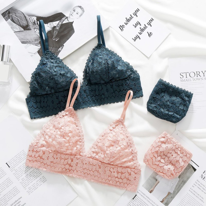 Sexy Lace   Bra     Set   Women Push Up   Bra     Brief     Set   Sexy Lcae   Briefs   Lingerie 3/4 Cup Women Underwear   Set