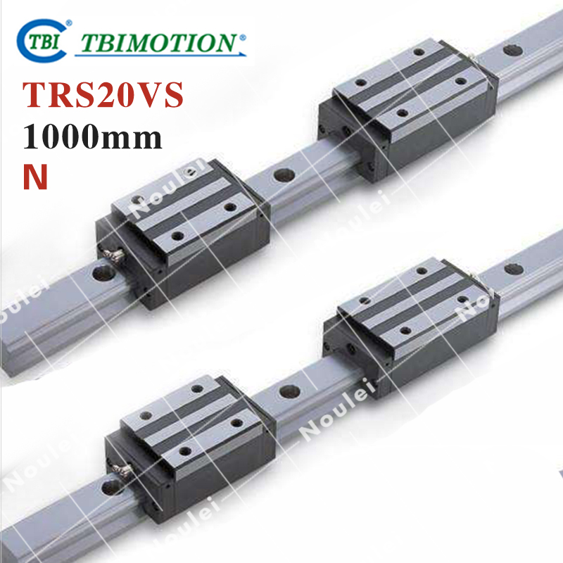 TBI 2pcs TRS20 1000mm Linear Guide Rail+4pcs TRS20VS linear block for CNC горелка tbi 240 3 м esg