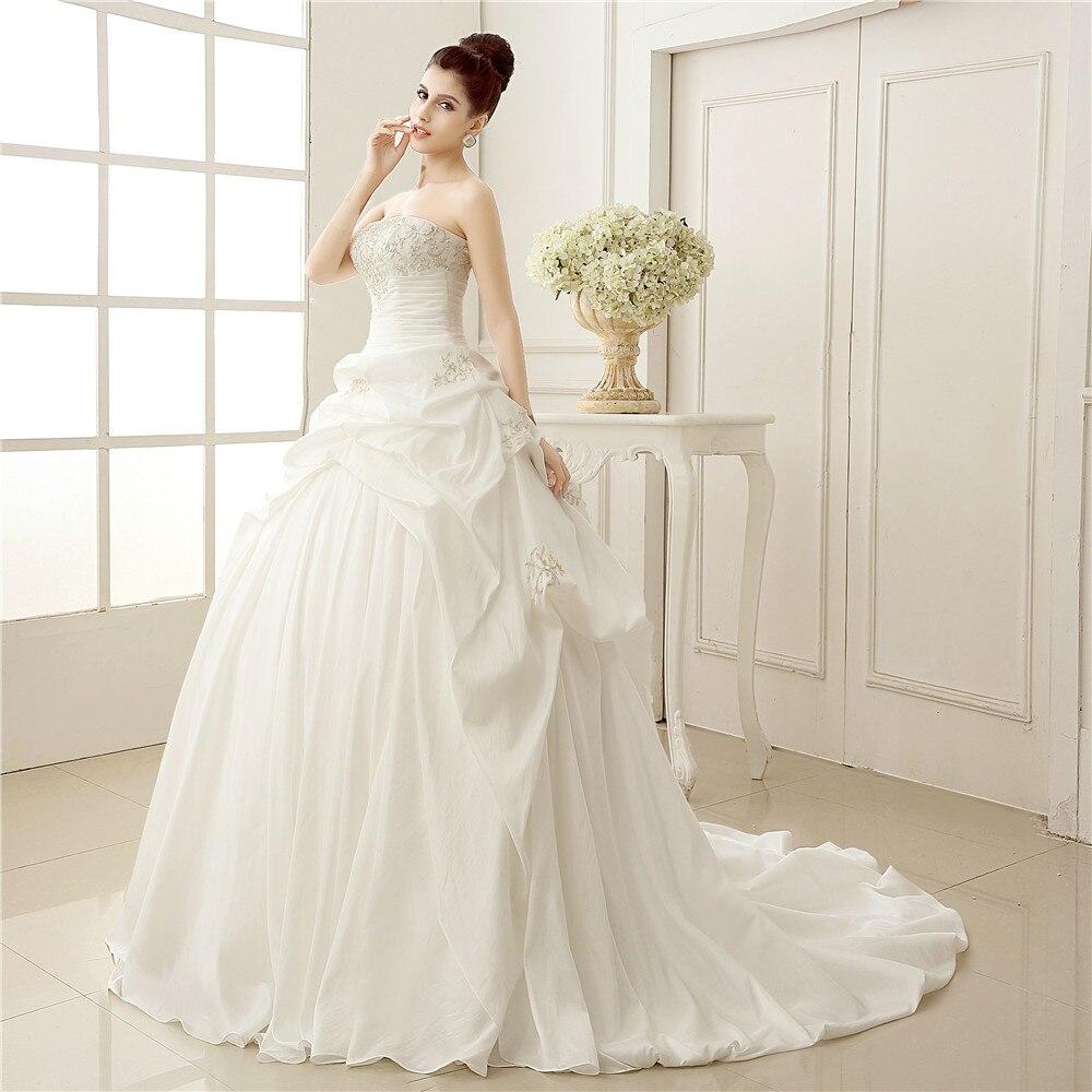 Real Images New Elegant Light Blue Sweetheart Cinderella Wedding ...
